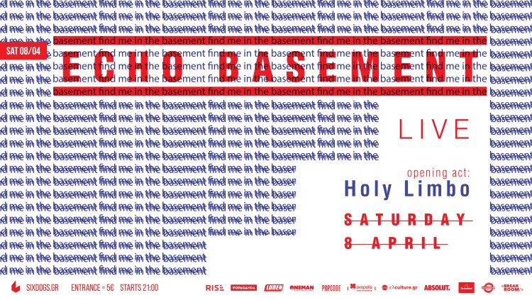 Echo Basement. Poster. Six Dogs LIVE